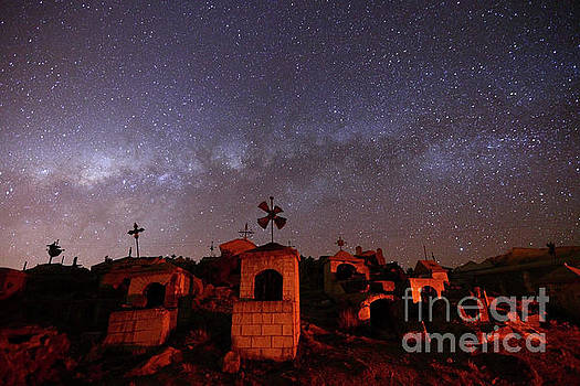 James Brunker - Milky Way Setting Over Milluni Cemetery Bolivia