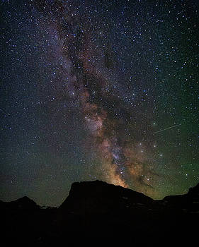 Milkyway over Chief Mt by Alan Anderson