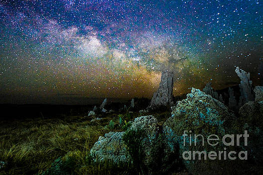 Milkyway Over Mono Lake by Jim DeLillo