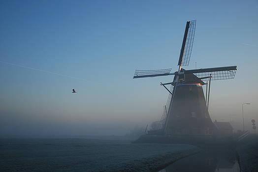 Mill at Dawn by Hans Kool