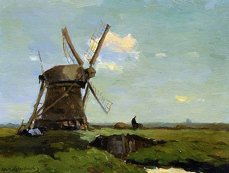 Weissenbruch Johan Hendrik - Mill In Landscape