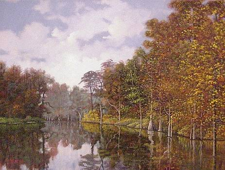 Mill Pond in Autumn by Jim Stratton