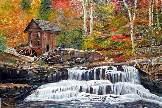 Mill Waterfall by LaVonne Hand