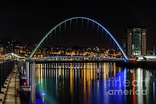 Millennium Bridge and The Baltic Gateshead. by Colin Morgan