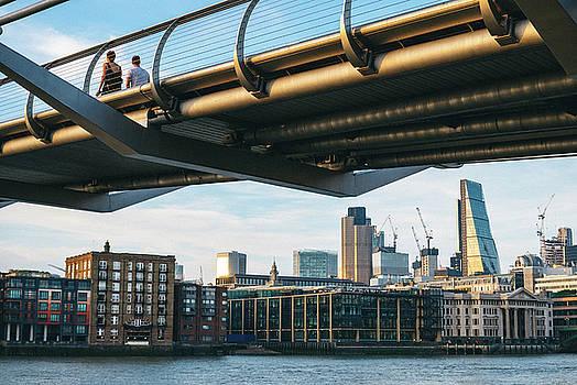 Millennium Bridge over the City by Matt Perry