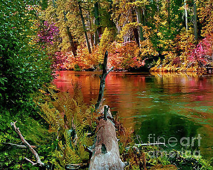 Peter Piatt - Millers Creek in the Fall Painterly