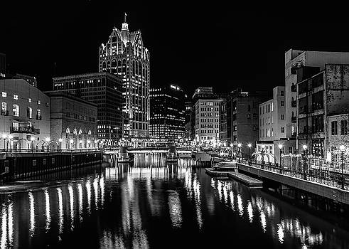 Milwaukee at Night by John Roach
