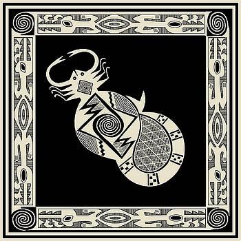 Mimbres Scorpion with Dragons by Vagabond Folk Art - Virginia Vivier