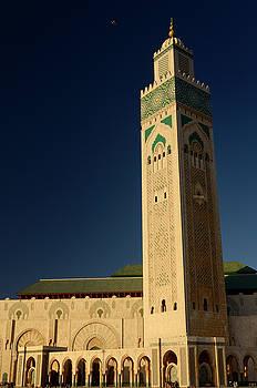 Reimar Gaertner - Minaret of the Hassan II Mosque in Casablanca Morocco at sunset