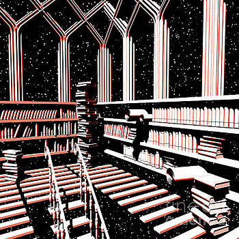 Mind Library Glowing by Russell Kightley