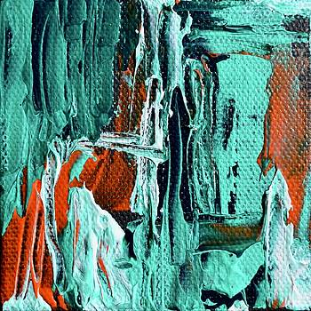 Mini Abstract in Green by Beverley Harper Tinsley