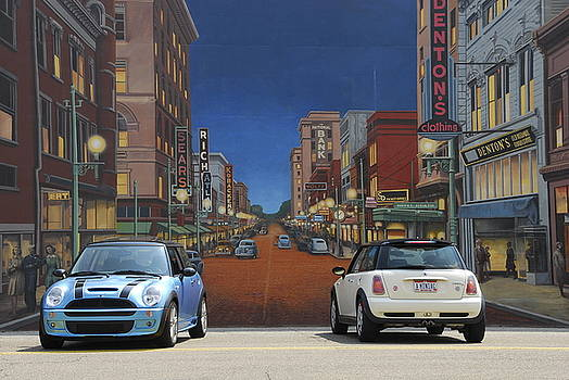 Mini and Mini at The Mural by Chris Cane