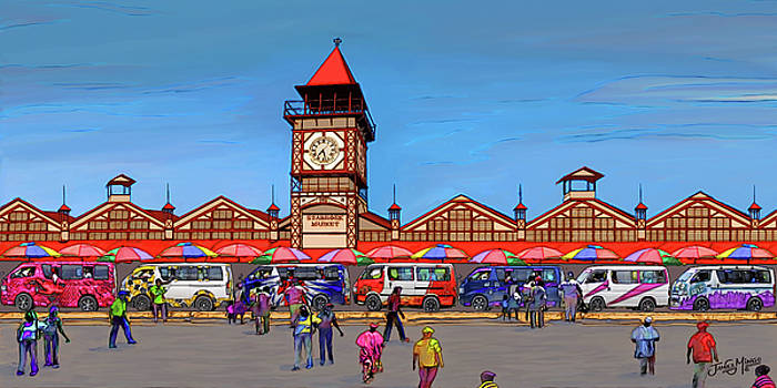 Mini Buses at the Market by James  Mingo