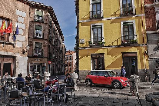 Mini, Madrid, and Coffee on the Plaza by Steffani Cameron