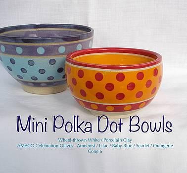 Mini Polka Dot Bowls by Teresa Tromp