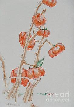 Mini Pumpkins on a Stick by Cheryl Emerson Adams
