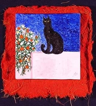 Miniature. Black Cat by Antonella Manganelli