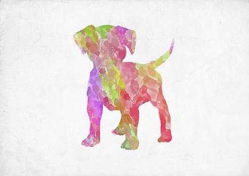 Ricky Barnard - Minimal Abstract Dog Watercolor II