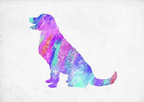 Ricky Barnard - Minimal Abstract Dog Watercolor IV