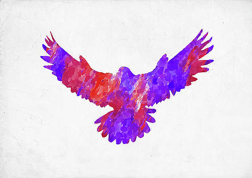 Ricky Barnard - Minimal Abstract Watercolor Eagle