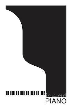 Benjamin Harte - minimal black piano poster