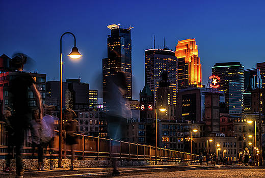 Minneapolis at Night by Katie Paulson
