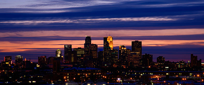 Minneapolis at Sundown by Chris Coward