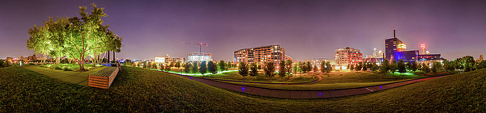 Minneapolis Gold Medal Park Skyline Panorama by Christopher Broste