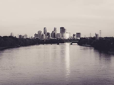 Minneapolis Skyline Reflection by Christopher Broste