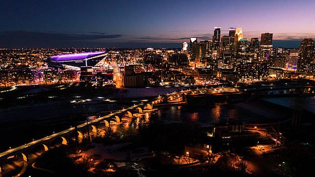 Minneapolis Skyline at Night by Gian Lorenzo Ferretti