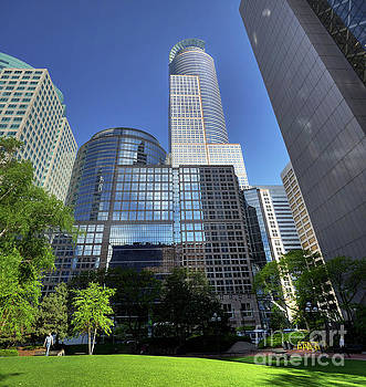 Wayne Moran - Minneapolis Skyline Capella Tower Springtime