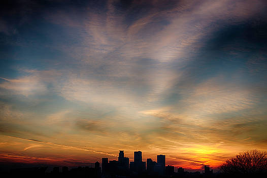 Minneapolis Skyline Color by Christopher Broste