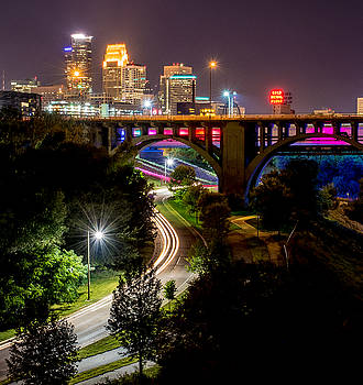 Minneapolis Skyline West River Parkway by Christopher Broste