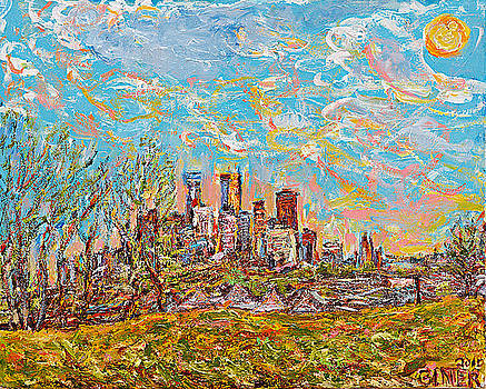Minneapolis Spring Skyline by Patrick Ginter