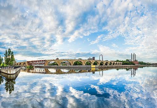 Minneapolis Stone Arch Bridge Panorama by Christopher Broste