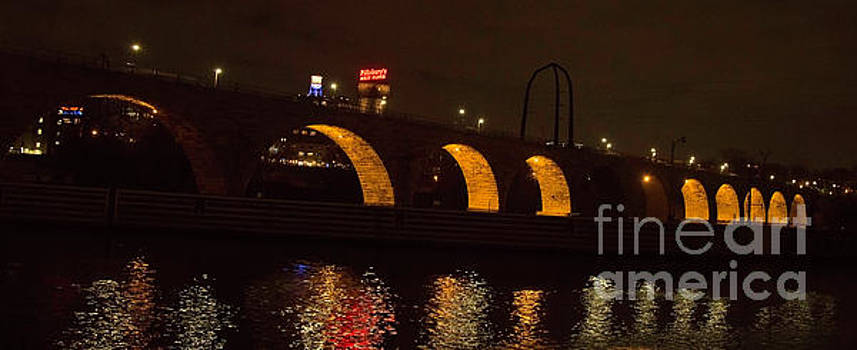 Minneapolis Stone Bridge at Night by Natural Focal Point Photography