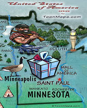 Kevin Middleton - Minnesota Fun Map