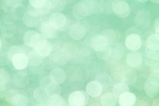 Peggy Collins - Mint Green Abstract Bokeh