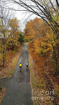Minuteman Cyclists in the Fall by Leara Nicole Morris-Clark