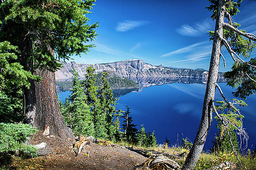 Mirror At Crater Lake by Frank Wilson