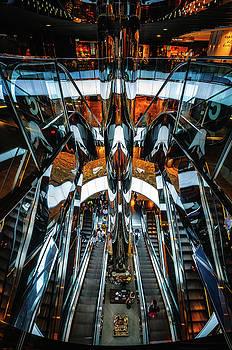 Mirror Escalators Bonanza at Shopping Mall in Sydney by Daniela Constantinescu