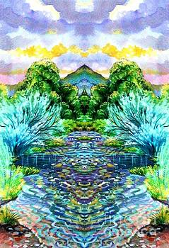 mirror image of Platt River by Annie Gibbons