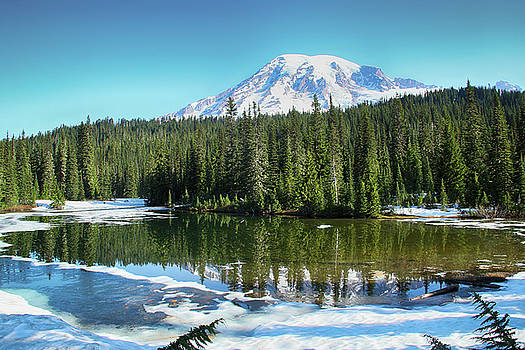 Mirror Lake and Mount Rainier by Marie Leslie