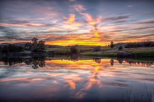 Mirror Lake Sunset by Fiskr Larsen