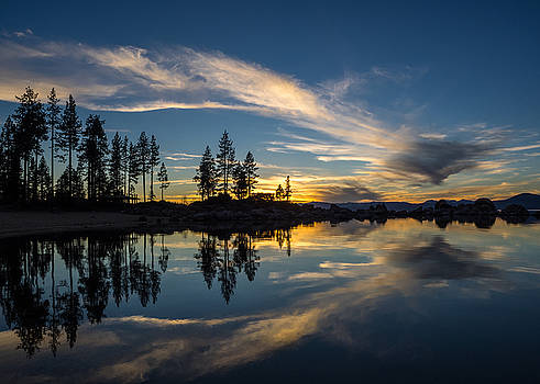 Mirror sunset by Martin Gollery