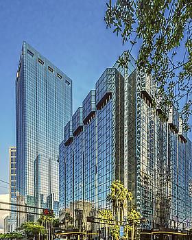 Paula Porterfield-Izzo - Mirrored Buildings in downtown Tampa