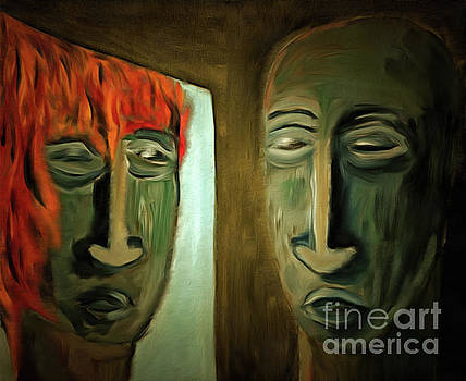 Mirroring - Burning Head by Michal Boubin