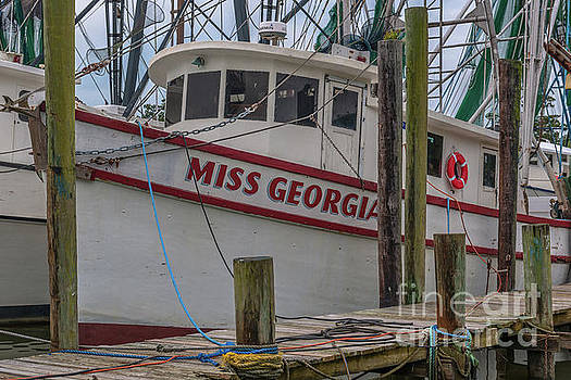 Dale Powell - Miss Georgia Shrimp Boat Docked in McCellanville SC
