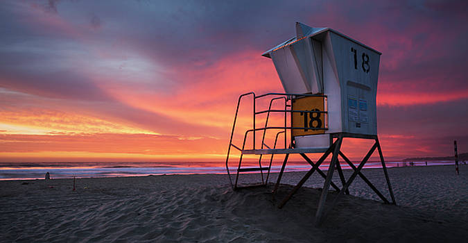 Mission Beach Lifeguard Station by William Dunigan