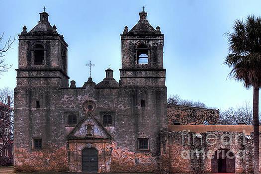 Mission Concepcion San Antonio Texas by Wayne Moran